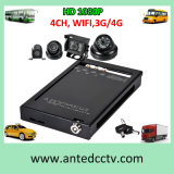 Mini CCTV 4CH 1080P Realtime SD Card Mobile Bus Car Vehicle DVR Recorder Audio Video
