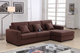 Dark Brown Small Fabric Sofa