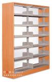 Steel Frame Double Side Library Bookshelf Furniture Dg-16