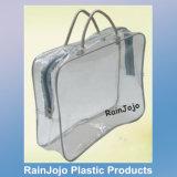 Eco-Friendly PVC Quilt Bag with Handles, Non-Toxic PVC Blanket Bag