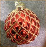 Christmas Red Glass Ball (8cm)