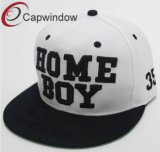 White Acrylic Hip-Hop Snapback Cap with Plastic Closure (01218)