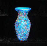 Murano Glass Flower Vase Art Craft for Home Decoration