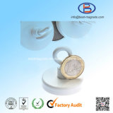 E48mm Strong Power Neodymium NdFeB Magnetic Hook with White Painting
