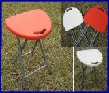 Portable Clamping Outerdoor White/Red Plastic Folding Stool Foldable Chairs