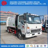HOWO 5m3 Garbage Truck 5000L Compressed Garbage Truck