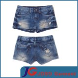 Pocket Scratch Girl Short Jeans Trousers (JC6047)