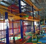 Kids Indoor Ropes Climbing Frameset for Mall