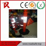Road Safety Traffic Plastic Reflective Red T-Top PVC Spring Delineator Post