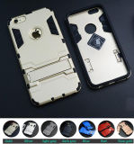 Iron Man Style TPU+PC Stand Armor Case for iPhone