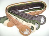 2013 New Designed Fashion Woven Belt/ Fashion Lady PU Belts Js-148-DC