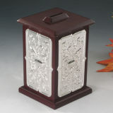 Silver Plated with Wooden Money Box (BW 10193 DMN)