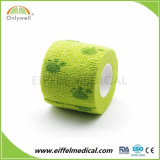 Competitive Price Color Veterinary Cohesive Elastic Bandage with Ce & FDA