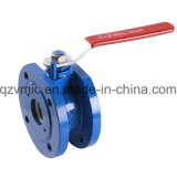 Manual Cast Iron Ductile Iron 1-Piece One Piece Wafer Flange Ball Valve