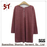 Wholesale High-Quality Casual T-Shirt for Unisex with Button