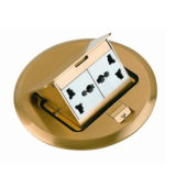 HGD-2Y Yumo Customizable Floor Socket 2 Gang Pop-up Multi-Function Socket