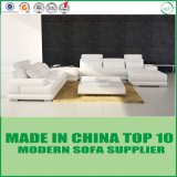 White Modern Contemporary Sectional Corner Leather Living Room Sofa