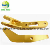 Golden Anodizing for CNC Machining Parts Connector Arm