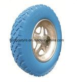PU Wheel Wheelbarrow Wheel 3.50-8 Flat Free Wheel