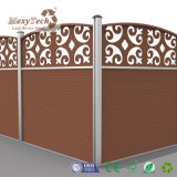 Europe Style Garden Edging Carved WPC Fence
