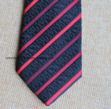Poly Woven Black and Red Striped Necktie for Men