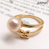 Classic Shell Pearl Butterfly Ring with Gold Plated