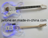 Acrylic Body LED Light on Body Quality Electric Guitar