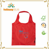 Cheap Recycled Custom Foldable 190t 210d Waterproof Drawstring Shopping Tote Polyester
