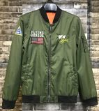 Fashion Green Men′s Flying Jacket with High Quolity Embroider