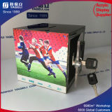 Plastic Acrylic Charity Donation Money Box with Lock