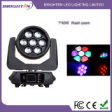 Mini 7*40W RGBW Wash Moving Head Lighting with Zoom