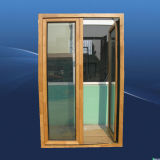 Double Pane Swing Outside Aluminum Wood Door