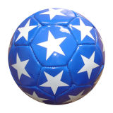 Machine-Sewn Colorful Printed Youth PVC Leather Soccerball