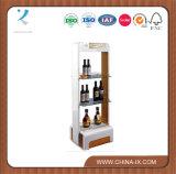 Floor Standing Wooden Champagne Wine Display Stand