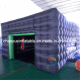 Black Color Inflatable Golf Simulator Cube Tent for Sports Game