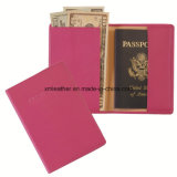 Pink Travel Companion Leather Paspport Wallet Cover