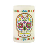 Colorful Skull Stickers Flameless Battery LED Candle for Halloween