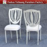 White Stackable Metal Used Banquet Chairs with Removable Seat Cuhion (YC-A278)