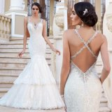 Backless Bridal Dress Vestido Mermaid Lace Wedding Gowns W1223