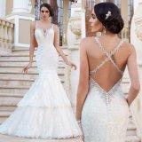 Backless Bridal Dress Vestido Mermaid Lace Wedding Gowns W1223