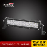 13′′ 72W Spot Flood Combo Beam Curved LED Light Bar