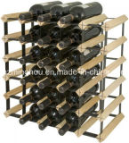 30 Bottle Solid Wood Wine Rack Painting Wine Holder