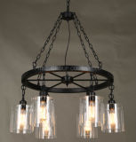 High Quality Wonderful Creative Bar Shop Chandelier with Glass Lampshade