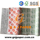 Customize Images 24*34cm Greaseproof Printed Paper for Burger Packing