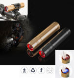 Bike Front Light XPE LED Rechargeable Zoom Flashlight with Holder