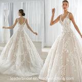 2017 Wedding Ball Gown Tiered Lace Spaghetti Bridal Dress CB064
