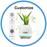 2017 Creative Touching Flower to Sing LED Smart Music Flowerpot