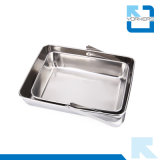 Stainless Serving Tray for Hotel Hand Towel Tray with Handle