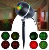 UL FDA IP65 High Clear Christmas Laser Light Oak Barrel Fashion Red Green Star Dots Sky Laser Light