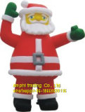 Inflatable Air Blow Santa Claus Mascot Costume for Outdoors